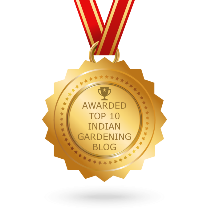 Awarded Top 10 Indian Gardening Blog