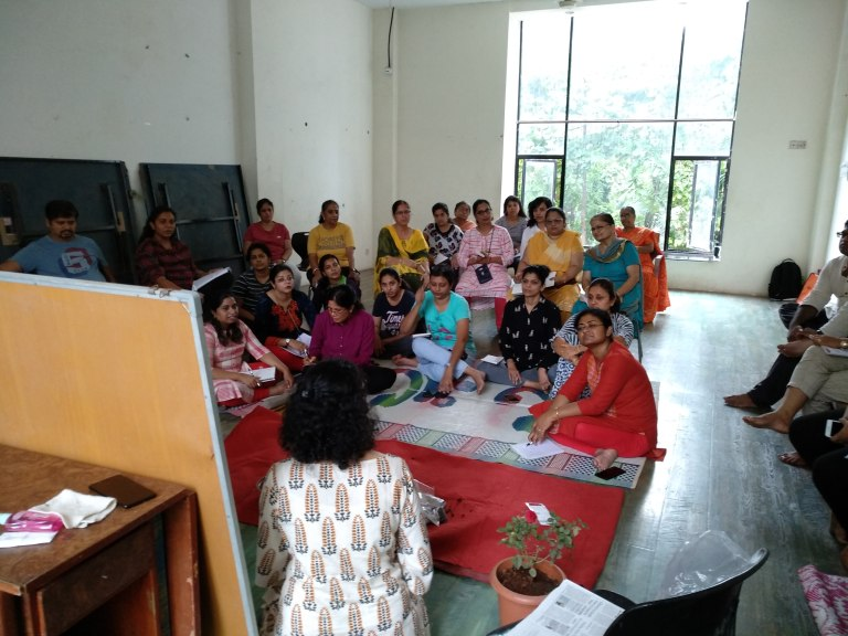 Gardening Workshop at Mayuresh Srishti, Bhandup, Mumbai by Reema Gopalan