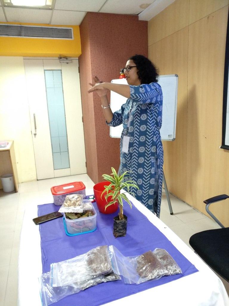 Reema Gopalan conducting Gardening Seminar at Tech Mahindra Mumbai